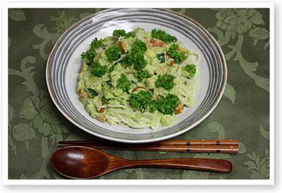 枝豆ソースでライススパ2