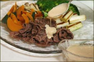 牛肉のソテーと温野菜