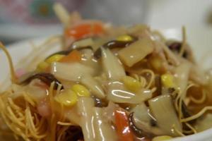 野菜あんかけ揚げ麺