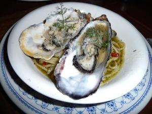 松島の牡蠣のパスタ