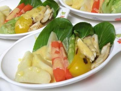 温野菜の味噌ソース焼き