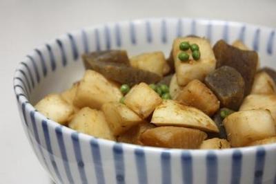 かぶとこんにゃくの味噌炒め_山椒風味