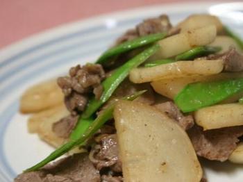 かぶと牛肉の炒め物