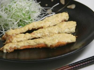 鱒の味噌豆腐焼き